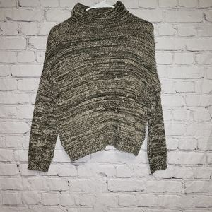 Christian Siriano Wool Knit Mock Neck Sweater